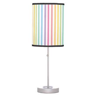 O arco-íris da cor Pastel listra o teste padrão Luminária De Mesa