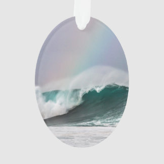 O arco-íris de Havaí acena o ornamento oval da