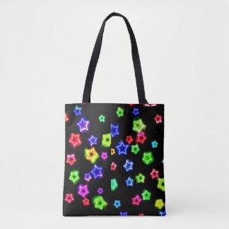 O arco-íris de néon Stars o bolsa