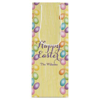 O arco-íris Eggs a páscoa do nome ou do negócio Sacola Para Vinho