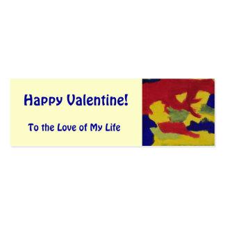 O arco-íris feliz dos namorados colore a mini marc cartão de visita skinny