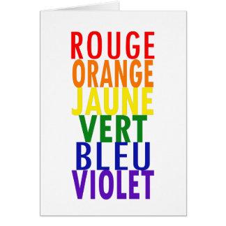 O arco-íris francês colore o cartão