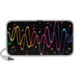 O arco-íris Funky coloriu ondas sadias e a nota mu Caixinha De Som