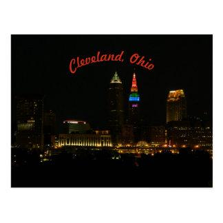 O arco-íris ilumina o cartão de Cleveland