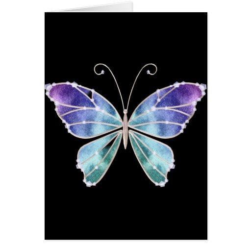 O arco-íris legal das máscaras voa a borboleta cartão
