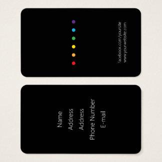 O arco-íris pontilha o orgulho de LGBT Cartão De Visitas