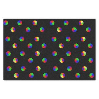 O arco-íris preto pontilha o lenço de papel do