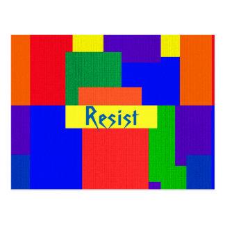 O arco-íris resiste o cartão abstrato do teste