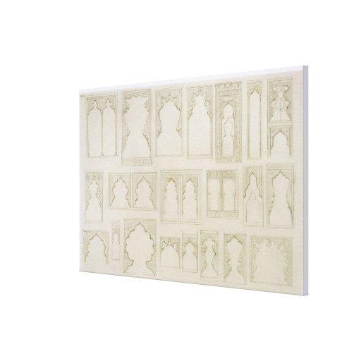 O arco islâmico e de Moorish projeta para os balcõ Impressão Em Canvas