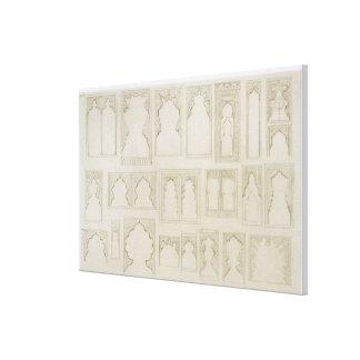O arco islâmico e de Moorish projeta para os balcõ Impressão Em Tela