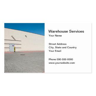O armazém presta serviços de manutenção ao cartão cartão de visita