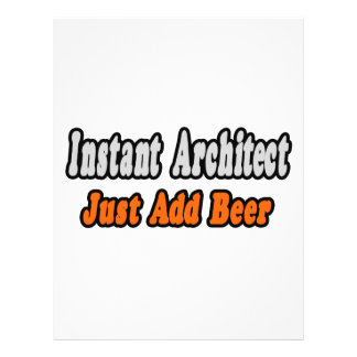 O arquiteto imediato… apenas adiciona a cerveja modelo de panfletos