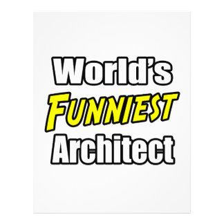 O arquiteto o mais engraçado do mundo panfleto personalizados