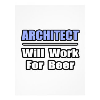 O arquiteto… trabalhará para a cerveja modelos de panfleto