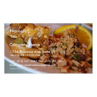 O arroz Eggs o pequeno almoço Cartão De Visita