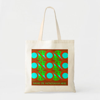 O art deco do verde azul de néon e dos vermelhos bolsas
