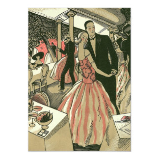 O art deco que Wedding, Newlyweds do vintage Convite 12.7 X 17.78cm