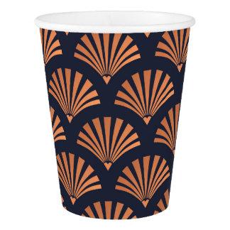 O art deco Shell modela os copos de papel de cobre