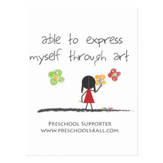 O artista cartão postal