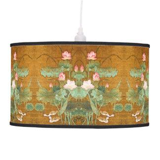 O asiático Lotus Waterlily floresce a lâmpada dos