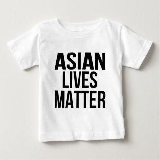 O asiático vive matéria camiseta para bebê