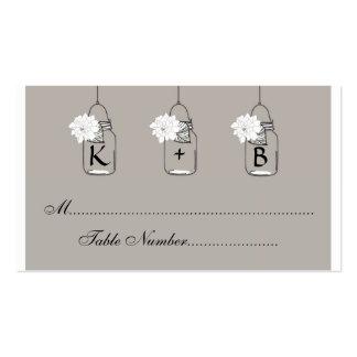 O assento do casamento do frasco de pedreiro carda cartão de visita