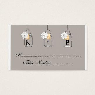 O assento do casamento do frasco de pedreiro carda cartão de visitas