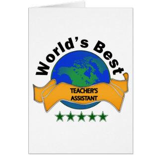 O assistente do melhor professor do mundo cartão comemorativo
