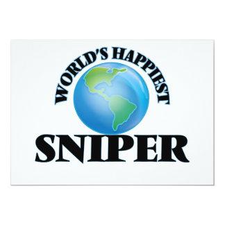 O atirador furtivo o mais feliz do mundo convite 12.7 x 17.78cm