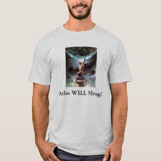 O atlas encolho de ombros! camiseta