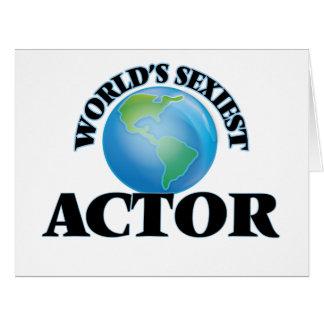 """O ator o mais """"sexy"""" do mundo cartões"""