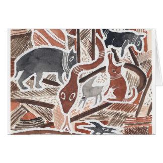 O australiano sonha #1 - 02 cartão comemorativo