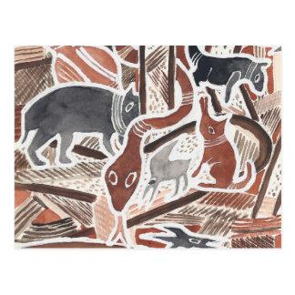O australiano sonha #1 - 02 cartoes postais