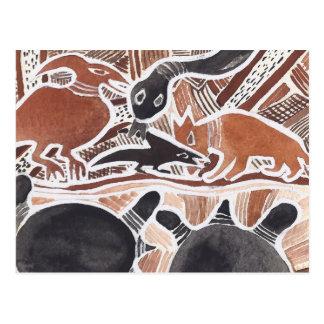 O australiano sonha #4 - 02 cartoes postais