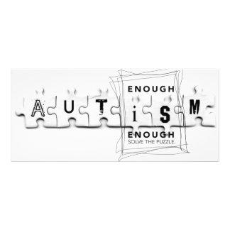 O autismo bastante é bastante 10.16 x 22.86cm panfleto