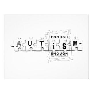 O autismo bastante é bastante modelo de panfleto
