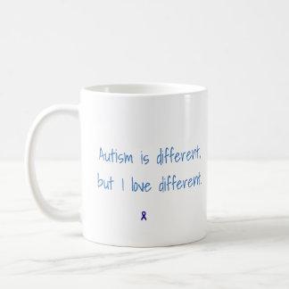O autismo é diferente, mas eu amo a caneca