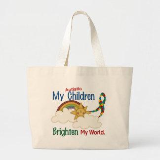 O autismo ILUMINA MINHAS crianças do MUNDO 1 Bolsa Para Compras