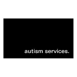 O autismo presta serviços de manutenção ao cartão  modelo cartoes de visitas