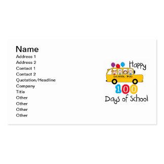 O auto escolar comemora 100 dias cartão de visita