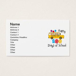 O auto escolar comemora 100 dias cartão de visitas