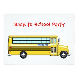O auto escolar de volta ao partido da escola convites personalizados