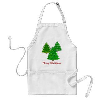 O avental do cozinheiro chefe da árvore de Natal