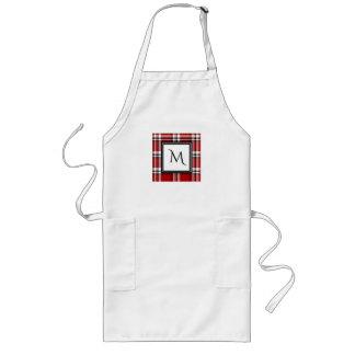 O avental do cozinheiro chefe vermelho do bloco do