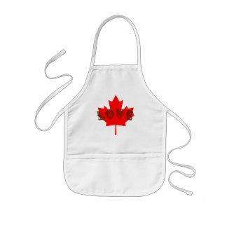 o avental do miúdo do dia de Canadá do amor