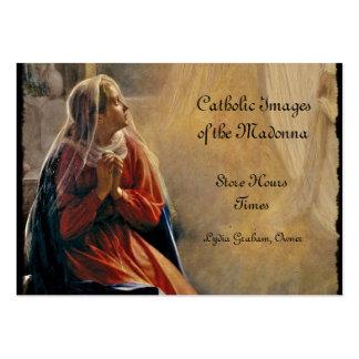 O aviso de Mary Cartão De Visita Grande