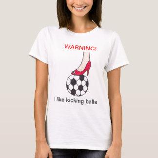 o aviso-eu gosta de retroceder a camisa das bolas