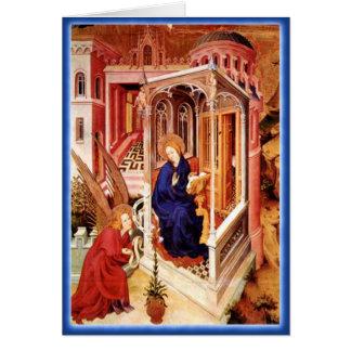O aviso pelo Natal de Melchior Broederlam Cartão Comemorativo