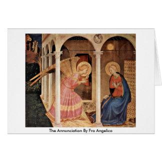 O aviso por Fra Angelico Cartão