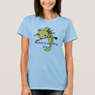 O Axolotl está olhando-o… camisa de T (o albino
